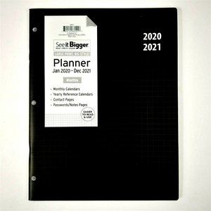 LARGE PRINT 2020-2021 See-It-BIGGER Month Planner
